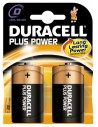 Duracell Plus Power Alcaline Torcia D - Blister 2 Batterie