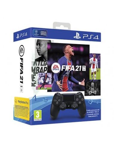 PS4 Dualshock 4 Black V2 + FIFA 21...